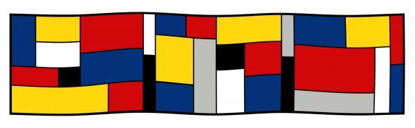 Seidenschal Mondrian