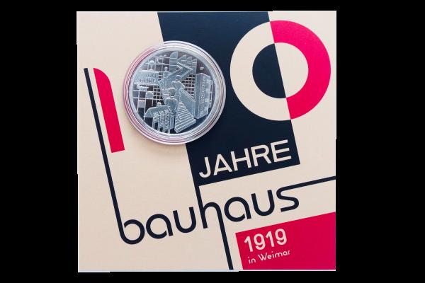 Silbermünze 100 Jahre Bauhaus