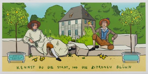 """Postkartenset """"Kennst Du die Stadt, wo die Zitronen blühn"""""""