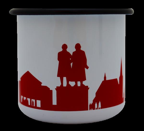 Emaille-Becher mit Weimar-Silhouette