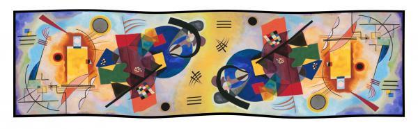 Seidenschal Kandinsky Gelb-Blau-Rot